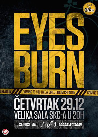 Eyesburn @ SKC, Beograd