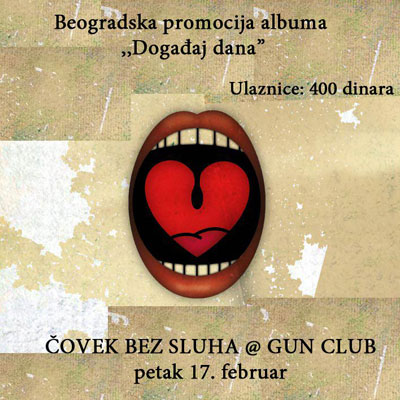 Čovek bez sluha @ Gun Club, Beograd