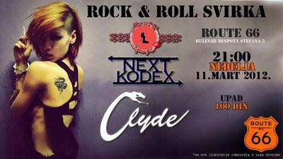Moulin Rouge, Next Kodex i Clyde @ Route 66, Novi Sad