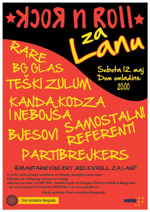 Humanitarni Rock'n'Roll koncert za Lanu