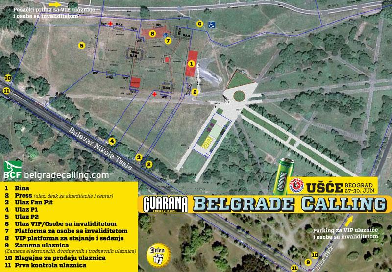Belgrade Calling - mapa