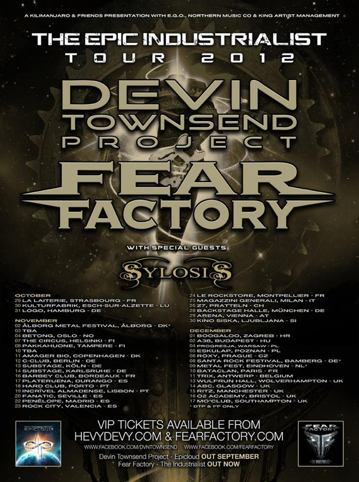 Fear Factory, Devin Townsend i Sylosis