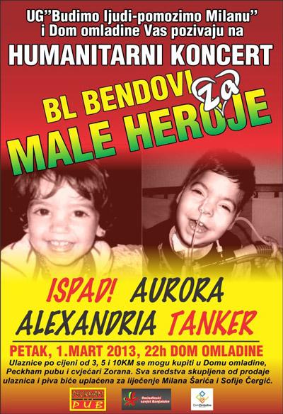 BL bendovi za male heroje