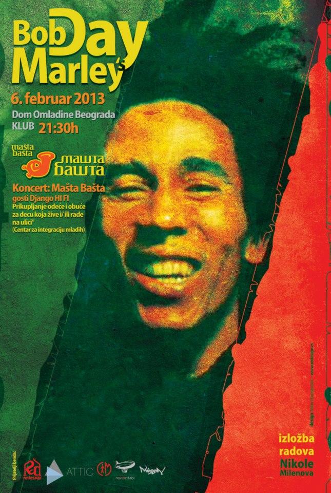 Mašta Bašta (Bob Marley's Day) @ DOB, Beograd