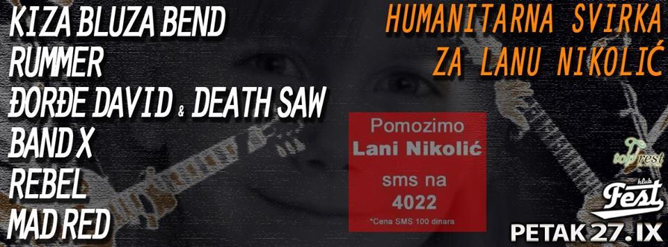 Humanitarni koncert za Lanu Nikolić