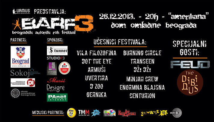 Beogradski autorski rok festival 2013 @ Dom omladine, Beograd