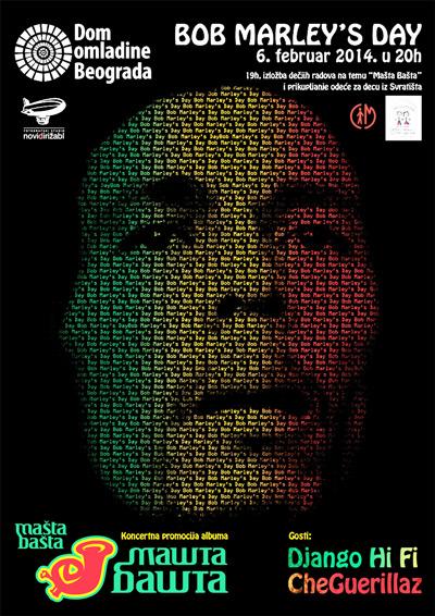 Bob Marleys Day - Mašta Bašta @ Dom omladine, Beograd