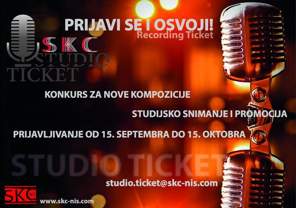 """Prijavi se i osvoji """"SKC Studio Ticket"""""""