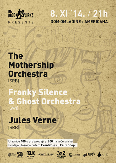 The Mothership Orchestra, Franky Silence & Ghost Orchestra @ Dom omladine, Beograd