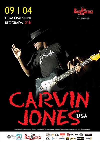 Carvin Jones Band @ Dom omladine Beograda