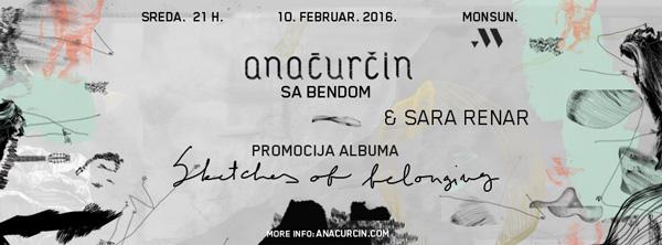 Koncert: Ana Ćurčin (specijalna gošća: Sara Renar)